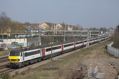 GA 90002 Goodmayes LON_378 (Stuart's Transport) Tags: greateranglia abellio aga london train electric uk class90 loco locomotive 90002 ga goodmayes