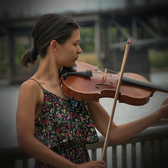 Young Violinist (swong95765) Tags: girl violin musician instrument player music young vignette