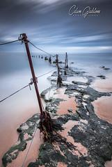 Sugar Sands Fence LE (Calum Gladstone) Tags: northumberland longhoughton sugar sands fence longexposure seascape rocks sky sea leefilters manfrotto canon6d
