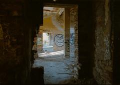 Don't forget... (www.instagram.com/matejduzel/) Tags: old building abandoned graffiti pula stinjan croatia istra istria film 35mm canon t70 fd dark mystic alone forgotten ruin analogue analog