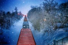 In Train... ing. Riding The Rails (James P. Mann) Tags: train locomotive railway tracks moncton trains cars snow snowing snowfall winter spring
