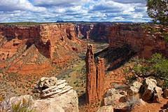Spider Rock, Canyon De Chelly NM (Paige_Terhune) Tags: canyondechelly national monument canyon chelly chinle az arizona park nationalpark landscape beauty nature desert rocks rock spider spiderrock cool like follow comment