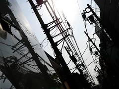 lines_1320806 (strange_hair) Tags: lines yokohama motomachi electrical wire urban blackwhite reflection