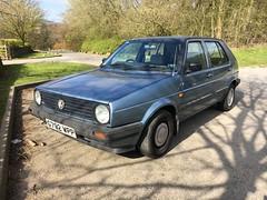 Golf CL (Sam Tait) Tags: vw volkswagen golf rabbit mk2 blue retro rare dub old skool derbyshire england