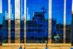 Abyss (rsvatox) Tags: kaliningrad sunny ships travel worldoceanmuseum people musem boats glass reflection