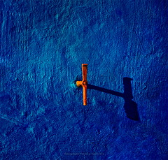 Deep Blue Sea.. (ValeriaBD) Tags: wall facade blue window old architecture abstract shutter clasp fastener nikon d7000 daylight shadow valeriabd minimalism