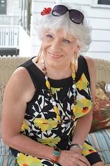 When It Comes To Accesories, I Am Not A Minimalist (Laurette Victoria) Tags: necklace earrings silver porch woman dress laurette
