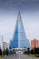 The iconic Ryugyong Hotel (jonas_k) Tags: travel northkorea pyongyang dprk pjöngjang