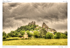 Najac [Aveyron] (BerColly) Tags: trees sky france castle church clouds google flickr village stones ciel pierres chateau nuages eglise hdr abres ruines aveyron massifcentral najac bercolly