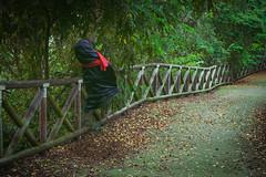 - shady box (Giuseppe Orr) Tags: wood shadow black halloween forest torino scary sad empty dora creepy patient turin shady hollow burqa burka