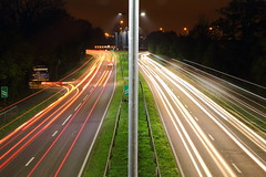 Coming and Going (blacksplat) Tags: uk light night composition canon long exposure traffic trails