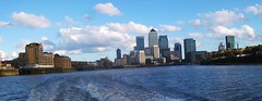 Canary Wharf from the Thames 01/11/14. (Ledlon89) Tags: city london water river greenwich canarywharf riverthames