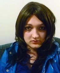 blue mac closeup (charlotteyorkscd) Tags: cute sexy tv mac cd blueeyes makeup transvestite mascara lipstick brunette eyeshadow raincoat crossdresser pvc leggings eyeliner pinklipstick pvcraincoat pvcmac shinyleggings wetlookleggings