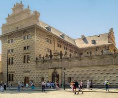 Sgraffito plasterwork on the 16th century Schwarzenbergsky Palace in Prague (Anguskirk) Tags: city europe prague artgallery czechrepublic czechoslovakia 16thcentury sgraffito 1545 schwarzenberskypalace rivieratravel aristocraticfamily