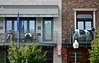 Two Men and a Cow (ricko) Tags: deleteme5 windows deleteme8 men deleteme9 deleteme7 cow lawrence deleteme10 kansas balconies deleteme1 massstreet biggsbbq