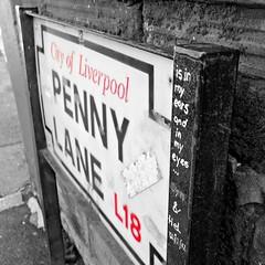 There beneath the blue suburban skies (Squatbetty) Tags: liverpool graffiti thebeatles merseyside pennylane