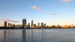Perth CBD (izrazddn) Tags: city blue sky canon buildings river swan south scenic australia perth cbd canong1x