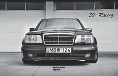 V12 Swapped W124 (Highlight Media) Tags: mercedes benz low v12 w124 e500 stanced