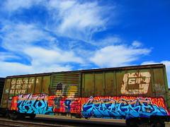 Tawl, Sangre (VDub (o\I/o)) Tags: california ca railroad train coast central tracks railway trains railcar valley bayarea boxcar tagging beavis sangre boxcars charachter ridged butthead trackside vdub rbox railart railbox railside benching tawl freightbums