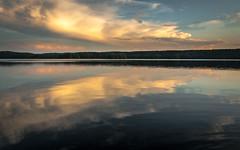 lake (eoinsm) Tags: light sunset cloud lake holiday colour reflection nature water clouds finland landscape evening holidays dusk naturallight ripples padasjoki nikond90