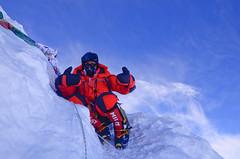 first Vegan on top of Mt. Manaslu (Kuntal Joisher) Tags: nepal vegan mountaineering summit himalayas manaslu