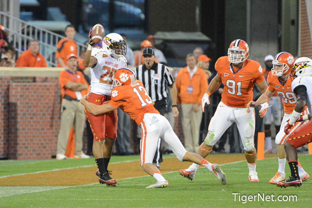 Clemson Photos: 2012, Football, Maryland, Spencer  Benton