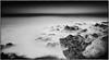 "Rocky Tranquility (Explored) (James A. Crawford - ♪♫♪""Crawf""♪♫♪) Tags: ocean california longexposure wallpaper sky blackandwhite bw white seascape black art beach nature water monochrome photoshop canon eos blackwhite rocks waves fineart creative explore textures filters canoneos cambria digitalphotography ebb edges sanluisobispocounty longexposures ndfilter ebbtide creativephotography neutraldensityfilter vle neutraldensity blackwhitephotos cs5 efex natureplus innamoramento niksoftware creativedigitalphotography tonalcontrast blackandwhiteonly creativepostprocessing colorefexpro3 silverefexpro2 colorefexpro4 imageborders"