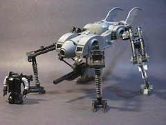 Fledermaus Maschine (Ma.K Like a Boss) (ExclusivelyPlastic) Tags: robot lego military batman gotham batmobile mecha mak mech