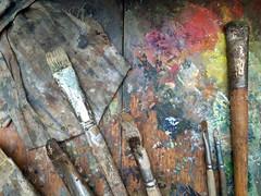 (Sameli) Tags: gallenkallela old paint brush palette art tarvaspää espoo suomi finland