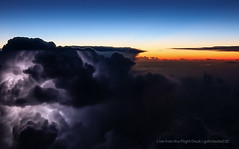 Dodging the weather (gc232) Tags: life from above sunset sky cloud sun weather clouds sunrise canon photography office high view shot aviation sigma cockpit aerial airline cumulus strike thunderstorm lightning cb airlines strikes f28 thunder pilot airliner pilots cbs thunderstorms cumulonimbus dodging 70d sigma1750 sigma1750mm pilotslife