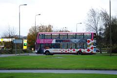 344 (Callum Colville's Lothian Buses) Tags: pink bus buses edinburgh gemini lothian gyle madder lothianbuses gemini2 edinburghbus b9tl madderandwhite madderwhite busesedinburgh buseslothianbuses