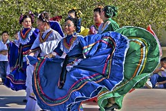 Mexican folk dance competition (Pejasar) Tags: school costumes girls students beautiful mexico dance traditional competition mexican dresses swirl tradition guadalupe folkdance rancho3m logstonschool