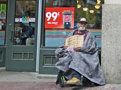 BostonProductPlacement (fotosqrrl) Tags: urban boston massachusetts wheelchair streetphotography blanket veteran 7eleven washingtonstreet biggulp schoolstreet maninneed
