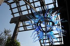 Blue Sun (Mamluke) Tags: blue sculpture sun sunlight glass minnesota gardens garden botanical jardin blues arboretum tageslicht sunlit cristal shards glas blades verre vetro zonlicht lumiredusoleil luzdelsol mamluke landscapearboretum minnesotalandscapearboretum lucesolare