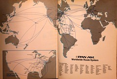 Pan Am route map, January 1985