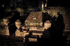 Light and Shadows in the Graveyard (Gilderic Photography) Tags: autumn light cemetery grave stone lumix europe shadows belgium belgique belgie pierre panasonic liege tombe ombres toussaint cimetire gilderic robermont lx3 dmclx3