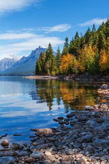 Fall in GNP (JoLoLog) Tags: trees usa lake mountains fall montana fallcolors rockymountains raya glaciernationalpark lorien gnp lakemcdonald canon6d