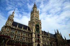 Munich - Neues Rathaus (cnmark) Tags: new city architecture germany munich mnchen deutschland hall gothic style historical rathaus neues revival stil allrightsreserved neugotisch