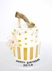(Icing for Joy) Tags: birthday gold stripes polkadots birthdaycake leopard 50birthday sugarflower leopardprintshoe 50thbirthdaycake fantasyflower goldcake fondantflower fondantshoe goldandblackcake