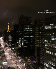 Paulista Avenue at night - Sao Paulo - Brasil (Roberto Sant'Anna) Tags: city brazil brasil paulo sao rbsantanna