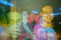 Multiple Colour Splash! (imogencallaway) Tags: people color colour film 35mm lomo lca lomography exposure cornwall faces flash double colorsplashflash multipleexposure bowling multiple analogue splash truro mx colorsplash doubles