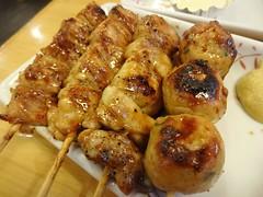 Yakitori @Yakitori Daikichi, Guyang Road, Shanghai (Phreddie) Tags: china food chicken dinner japanese restaurant yum shanghai eat yakitori biz gubei daikichi 141107