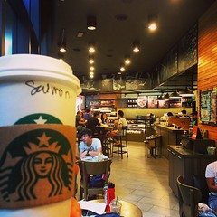 Starbucks coffee - just what we needed today :) #upsticksandgo #starbucks #KLSentral #KL #kualalumpur #malaysia #coffee #latte #travelgram #travellingtheworld (UpSticksNGo) Tags: coffee starbucks malaysia kualalumpur latte kl klsentral travellingtheworld travelgram upsticksandgo