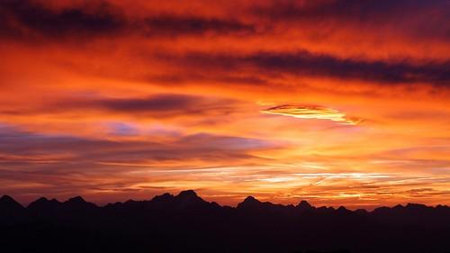 Ciel aprés le coucher du Soleil