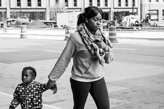 Come along... (Britt Photographic) Tags: street blackandwhite bw female child streetphotography stpaul bnw brittphotographic