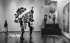 Girls Photoging Art (JLMooney) Tags: people blackandwhite bw black art monochrome mono blackwhite gallery fuji candid nelson monotone fujinon 23mm xt1
