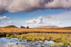 Big Sky Over Lochnellan (Geoff France) Tags: mist water fog clouds landscape heather grouse moorland dava scottishlandscape davamoor