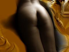Friandise - DJ CC Jung 2011 (Mescalinart) Tags: colors photoshop nude effects graphic artistic nu couleurs femme peinture corps fesses peau nue effets courbes filtres formes