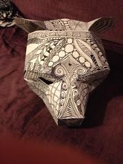 Bear Mask (anselm23) Tags: bear creativity design mask maskmaking bearmask zentangle wintercroft wintercroftdesigns