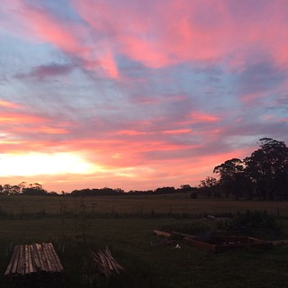 Daylesford sunset - Melbourne Cup Eve